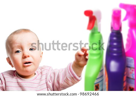 Protect children from harsh cleaners