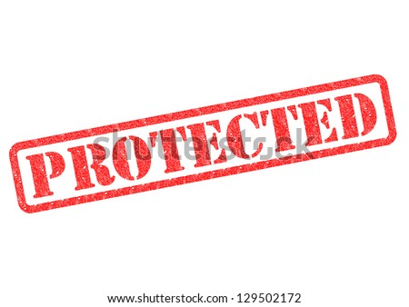 PROTECTED rubber stamp over a white background.