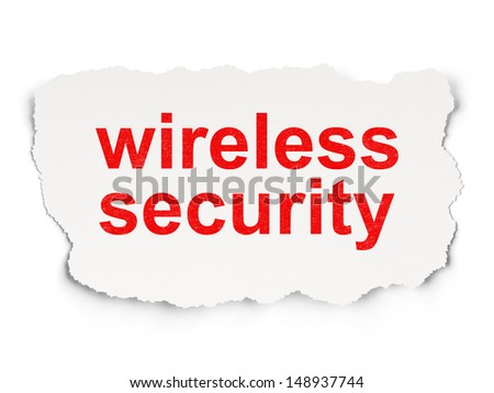Protection concept: torn paper with words Wireless Security on Paper background, 3d render #148937744