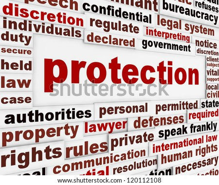 Protection creative message design. Security poster concept