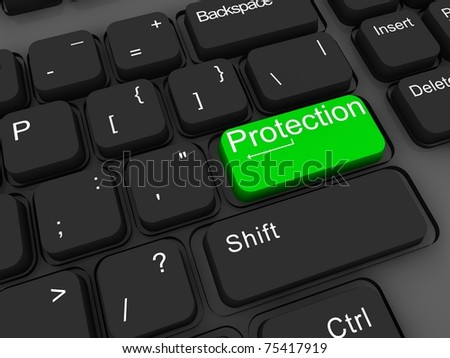 Protection, 3d keyboard key
