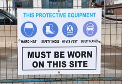 Protection Equipment sign