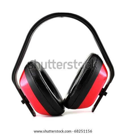 Protective earmuffs - stock photo