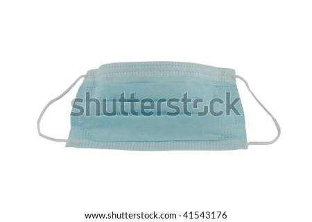 Protective face mask isolated on white background