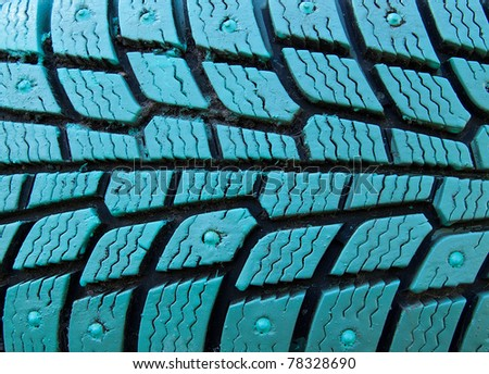 protector of tire of the turquoise color
