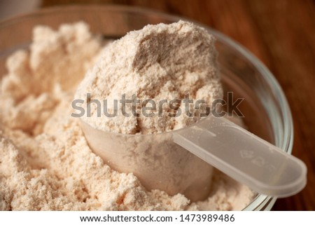 protein diet whey powder for sports and human health support when taking extra strain on the muscle
