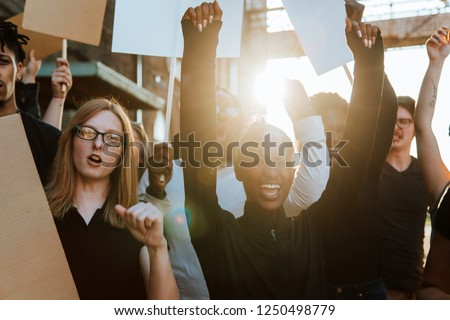 Protesters fighting for their rights