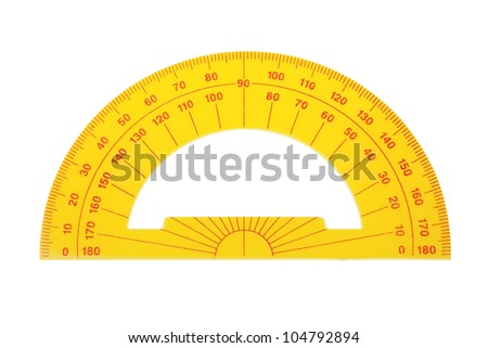 Protractor architect on a white background.