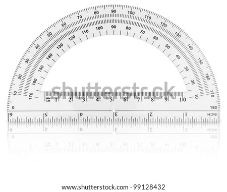 Protractor isolated on white background