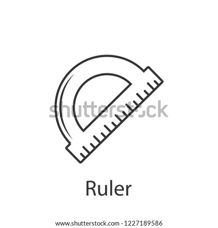 Protractor ruler icon icon. Simple element illustration. Protractor ruler icon symbol design from Construction collection set. Can be used in web and mobile