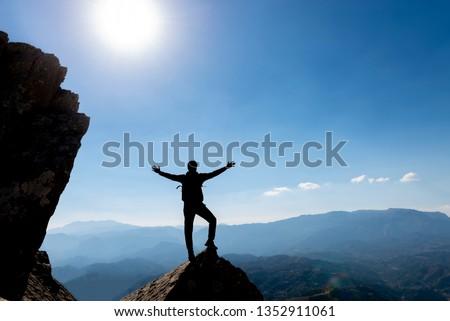 proud success of the faithful, courageous and adventurous climber