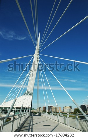 Provencher Bridge, in Winnipeg, Manitoba, Canada. #17604232