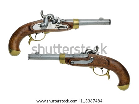 Prussian antique percussion pistol