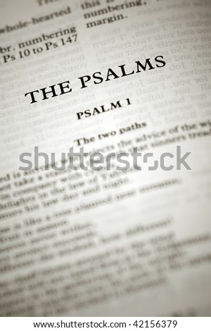 psalms biblical scriptures starting with the first chapter