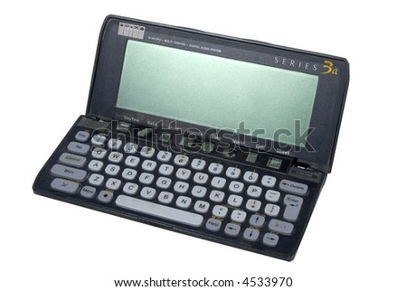 Psion retro PDA personal organiser  isolated on white
