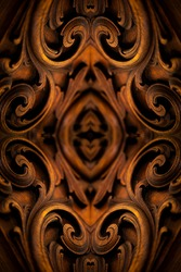 Psychedelic Abstract Background, made with Vintage Furniture, Symmetrical Kaleidoscope Mirror.