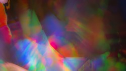 Psychedelic abstract background splash pattern. Trippy light exposure with swirling rainbow colors