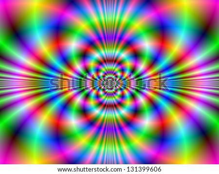 Psychedelic Neon / Digital abstract fractal image with a psychedelic neon design in green, blue and pink.