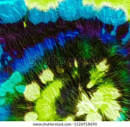 Psychedelic Spiral. Neon Flow Vibrant. Multicolor Vibrant Abstract Wallpaper. Blue Acid Neon Radiant. Sunny Yellow Dye Effect. Shibori. Shimmer Colors Ikat Background.