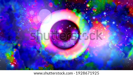 Psychedelics and psychedelic drug or hallucinogenic drugs and hallucinogens or consciousness and psychology or psychological hallucinating with mind altering substances in a 3D illustration style. Stockfoto ©