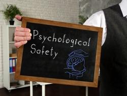 Psychological Safety phrase on the blackboard
