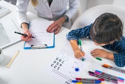 Psychology Test for Children. Toddler Coloring Shapes