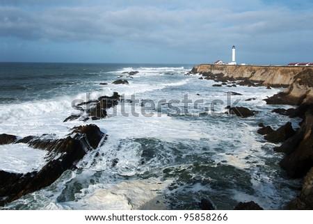 Pt. Arena Lighthouse in Mendocino County , California