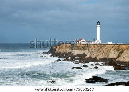 Pt. Arena Lighthouse in Mendocino County , California