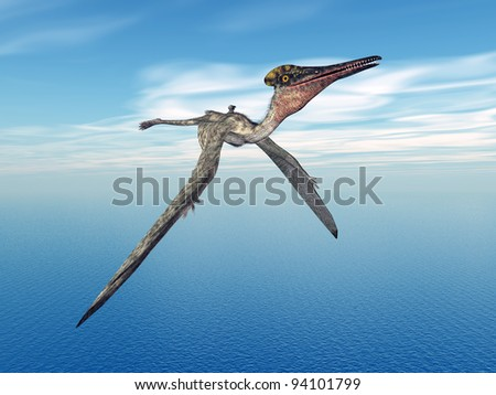 Pterodactylus Computer generated 3D illustration