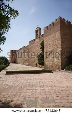 public access castle of Almeria city in Andalusia Spain