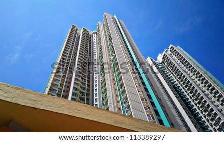 public apartment block in Hong Kong