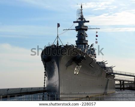 public Battleship park near mobile, AL - stock photo