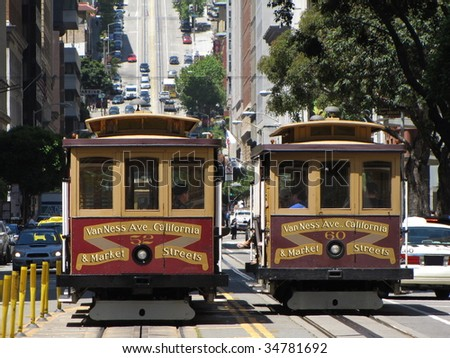 public cablecar at san francisco