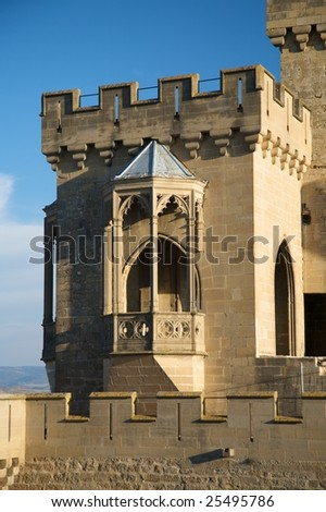 public castle of olite village in navarra spain