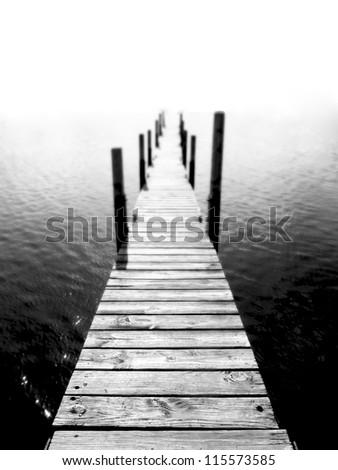 Public dock at Sister bay in Door County, Wisconsin.
