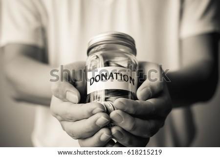 Public donation charity event concept Stock fotó ©