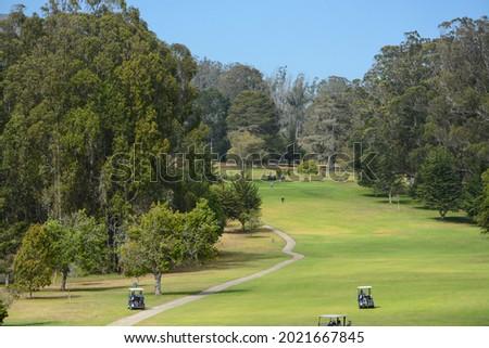 Public golf course in Morro Bay State Park, Morrow Bay, San Luis Obispo County, California Foto stock ©