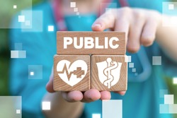 Public Health Concept. Medical Social Treatment Service. Modern Healthcare Pharmacy System.