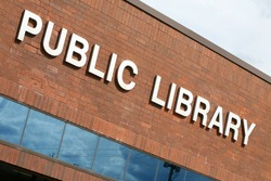 Public library building as seen from outside