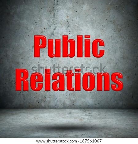 Public Relations concrete wall