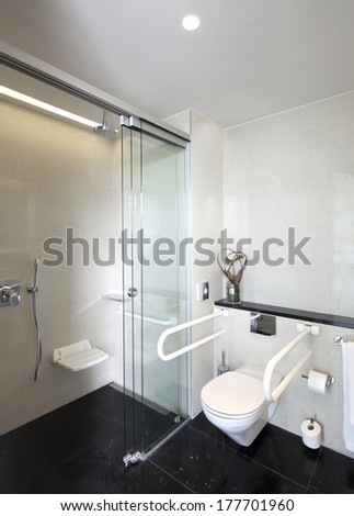 public restroom for disabled people  Stock foto ©