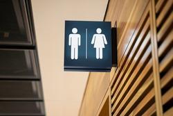 Public Restroom Sign. Toilet Bathroom Signage Plate