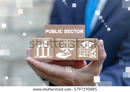 Public Sector Government Education Health Municipal Service Provide People Infrastructure Concept. ストックフォト ©