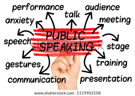 Public Speaking Word Cloud tag cloud isolated
