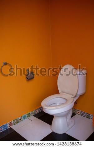 Public toilet background. an public toilet in an public building