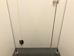 Public toilet door lock, stainless steel door knob
