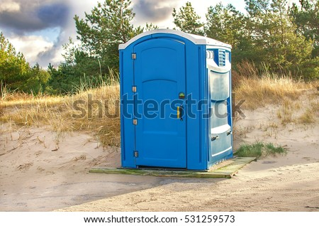 Public toilet in the beach