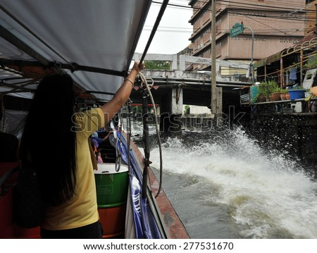 public transport of the people in Bangkok Thailand /  exciting peoples\'s transport  /  most famous public transport for Bangkok residents