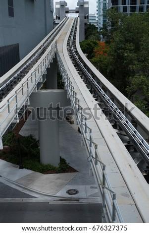 public transportation rails #676327375