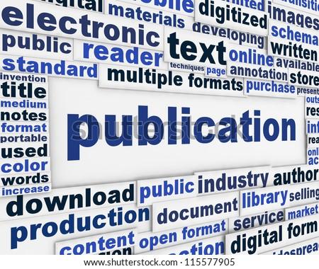 Publication poster design. Document dissemination messeage background